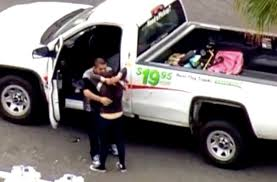 Bonnie and Clyde' couple end joy ride in stolen U-Haul with embrace ...