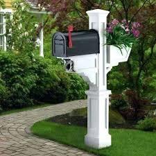 mailbox post plans. Exellent Mailbox Home Depot Mailbox Posts Signature Plus Plastic Post With Dual  Decor  Jacks Trades Cedar  To Mailbox Post Plans B