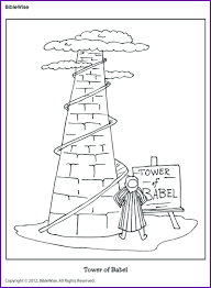 Small Picture Coloring Tower of Babel Kids Korner BibleWise