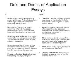 writing a successful personal statement college essay ppt  do s and don ts of application essays do be yourself