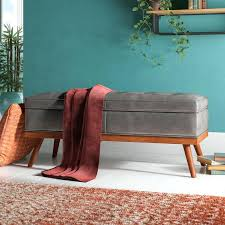 teal storage bench faux leather storage bench teal upholstered storage bench