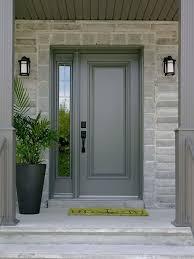 outside doors exterior steel doors grey door with glass sidelights big matte black planter