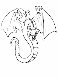 Scary Dragon Coloring S 7 Jokingartcom Dragon Coloring Pages