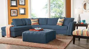orange living room furniture. Cindy Crawford Home Calvin Heights XL Indigo 2 Pc Sectional Orange Living Room Furniture