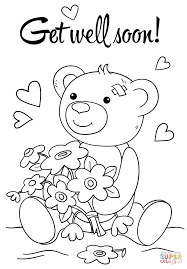 Small Picture Cute Get Well Soon coloring page Free Printable Coloring Pages