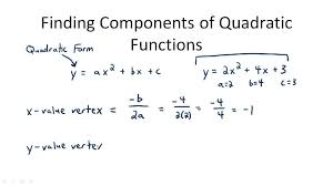 finding components of quadratic functions overview