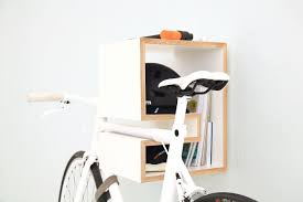 Wall bicycle mount 3d Printed White Mikili Kappo Bike Storage Rack Is Storing White Bicycle Black Bike Helment Makespace 13 Best Bike Racks For Every Bicycle Owner On Your Gift List