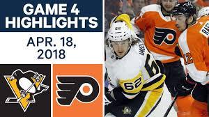 flyers vs penguins history nhl highlights penguins vs flyers game 4 apr 18 2018 youtube