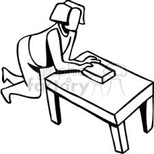 table clipart black and white. black and white girl cleaning a table clipart