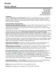 Cover Letter For Claims Adjuster Top Rated Resume For Claims