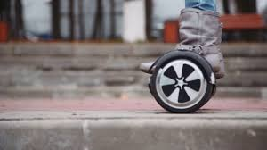 Hoverboard Plans Ride Hyroscooter Closeup Feet On Hoverboard Stock Video Footage