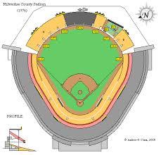 Five County Stadium Seating Chart Clems Baseball Milwaukee County Stadium