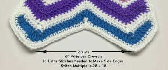 Double Crochet Chevron Pattern Delectable How To Double Crochet A Wave Afghan Tutorial The Crochet Crowd