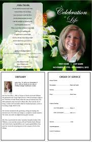 Free Memorial Service Program 24 best Printable Funeral Program Templates images on Pinterest 1