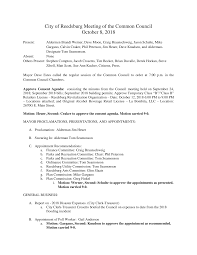 City of Reedsburg Meeting of the Common Council October 8, 2018
