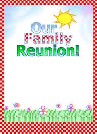 Printable Family Reunion Invitations Printable Family Reunion Invitations Kadil