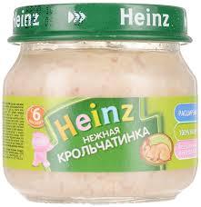 heinz пюре нежная крольчатинка с 6 месяцев 80 г