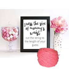 guess the size of mommy s belly baby shower game sign