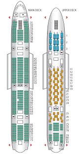 Seat Plan For The Thai Airways A380 800 Thai Airways