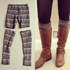 leggings boot cuff diy boot cuff ideas to dress up your winter look