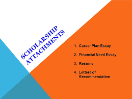phs local scholarships ppt  5 scholarship attachments career plan essay financial need
