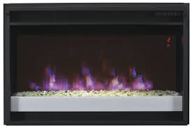 nice electric fireplace insert with safer plug supplemental zone heating in a room tempered glass front design equipped with safer plug fire prevention