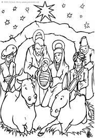 Kleurplaat Kerststal Afb 6448 Images