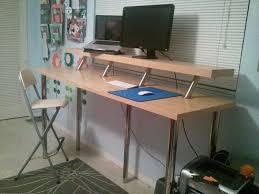 Creative of Stand Up Workstation Ikea Wide Standing Desk Ikea Hackers Ikea  Hackers