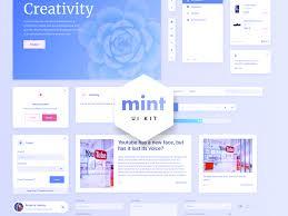 Mint Free Sketch Web Ui Kit Uplabs