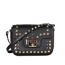 ash sage mini cross bag black studded leather