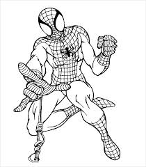 Small Picture Spider Man Coloring Pages 21 Free PSD AI Vector EPS Format