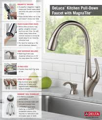 Kitchen Faucet Soap Dispenser Delta Deluca Single Handle Pull Down Sprayer Kitchen Faucet With