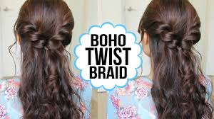 Twisted Hair Style easy twist braid hairstyle hair tutorial youtube 3936 by wearticles.com