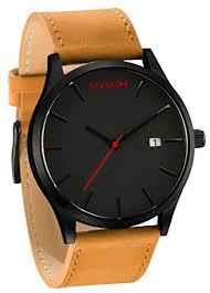 mvmt watches black face tan leather strap men`s watch mvmt watches black face tan leather strap men`s watch 85 50
