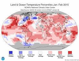 february 2015. Plain February Januaryu2013February 2015 Blended Land And Sea Surface Temperature Percentiles With February