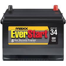 Everstart Maxx Lead Acid Automotive Battery Group Size 34n