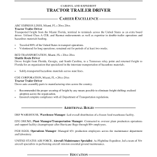 Truck Driver Resume Sample. Resume Resume Examples For Truck in Flatbed Driver  Job Description
