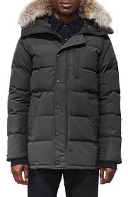 Carson Slim Fit Hooded Parka With Genuine Coyote Fur Trim