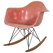 early edition eames rocker in coral salmon at stdibs