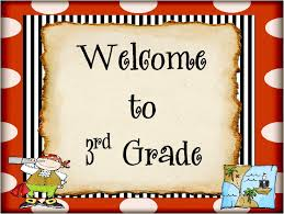 Image result for welcome to 3rd grade
