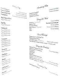 Ceremony Template Wedding Ceremony Outline Samples Sample Program Template Format