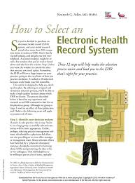 S How To Select An Electronic Health