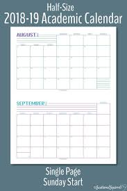 Monthly Academic Calendar Introducing The 2018 2019 Academic Calendars Personal