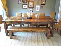 dining room table and bench barn wooden rectangle farmhouse dining room table with bench also for