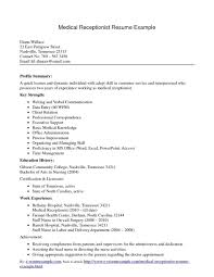 Medical Office Resume Objective Luxury Inspiration For