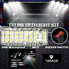 caracal 8pc pickup truck bed work box waterproff white 48 led lighting accessories kit in car light assembly from automobiles motorcycles on