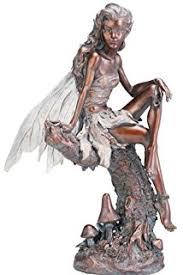 fairy garden statues. Napco Bronze Fairy Figure Garden Statue, 13-Inch Tall Statues