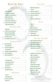 Free Wine List Template MenuPro Menu Design Samples From MenuPro Menu Software More Than 8