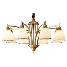 pure brass large luxurious rustic retro vintage brass pendant chandelier with glass shades special for hotel