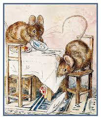 Details About Beatrix Potter Tale Of 2 Bad Mice Eating Counted Cross Stitch Chart Pattern